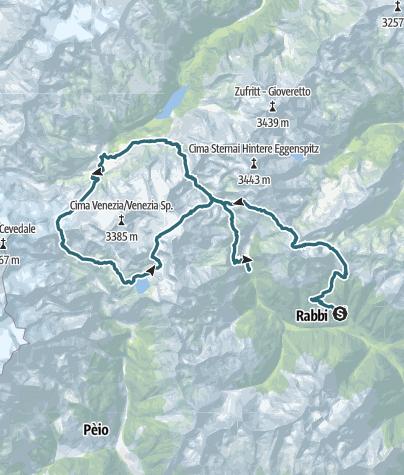 Cartina / Trekking del Parco dello Stelvio
