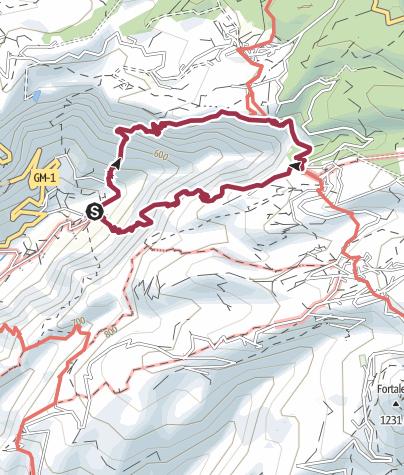 Mapa / Ruta circular de senderismo por Los Altos de Guadá