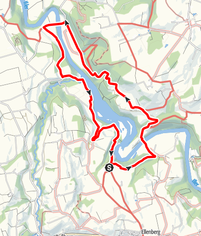 Karte / Rundweg Kalden - Hängebrücke Altusried - Unterau - Kalden