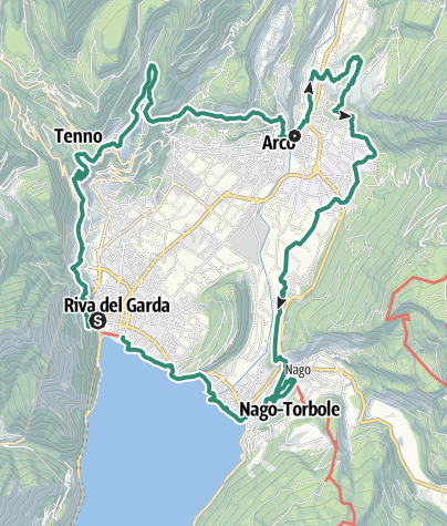 Map / Garda Trek  - Low Loop: in the heart of Garda Trentino