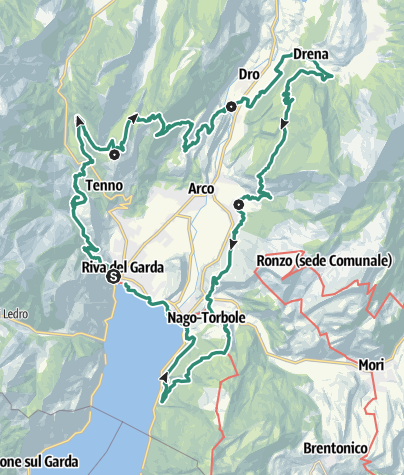 Cartina / GardaTrek - Medium Loop: 4 tappe attorno al Garda Trentino