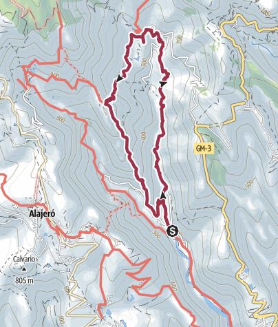 Mapa / De Santiago a Benchijigua