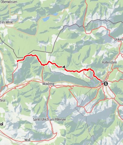 Karte / 01A Nordalpenweg, E29 (Variante): Lofer - Straubinger Haus