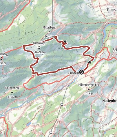 Karte / Alpvielfalt im Gunzesrieder Tal