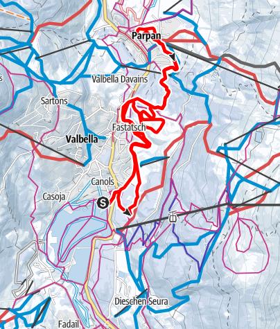 Karte / Valbella - Parpan - Valbella