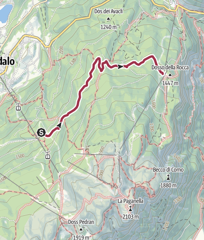 Cartina / Dosson - Croz del Rasar - Meriz - Dosson