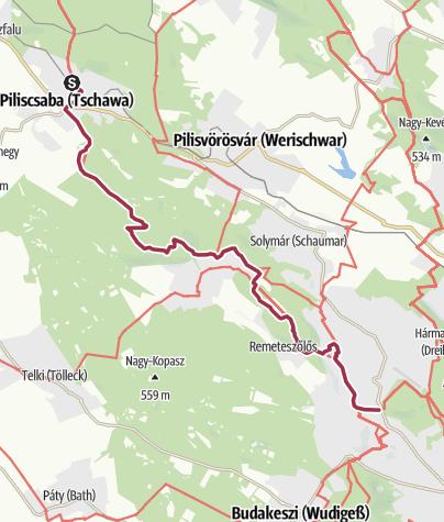 Térkép / Piliscsaba – Hűvösvölgy (OKT-13.)