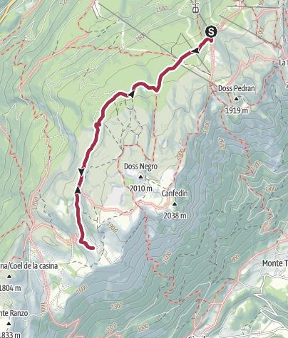 Cartina / Albi de Mez - Bait del Germano