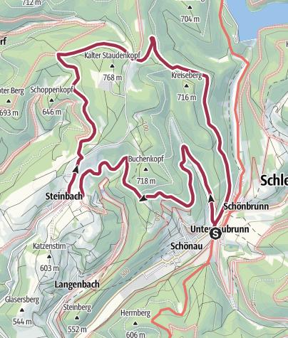 "Karte / Rundwanderweg - ""Frankenblick"" - Schönbrunn - Thüringer Wald"