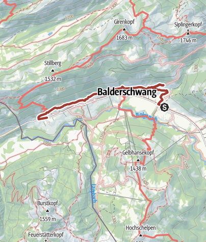 Karte / sich Zit long - Balderschwanger Zeitweg