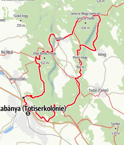 Térkép / Gerecse 50