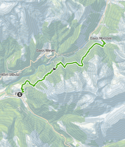 Karte / 35.13 Walserweg Graubünden Etappe 13: Filisur - Monstein