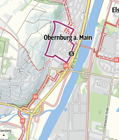 Karte / Römerspaziergang Obernburg