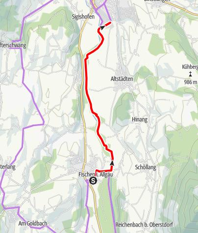 Karte / Entlang der Iller ins Erlebnisbad Wonnemar
