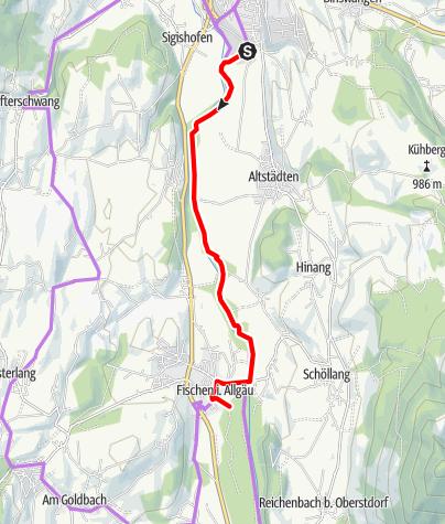 Karte / Entlang der Iller zum Eichhörnchenwald bei Fischen