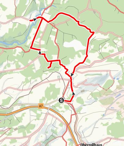 Karte / Bauernfliehburg Runde - kleiner Rundwanderweg