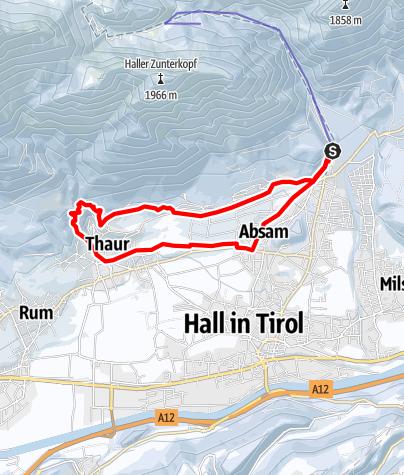 Map / PREMIUM Pilgerrunde Absam-Thaur