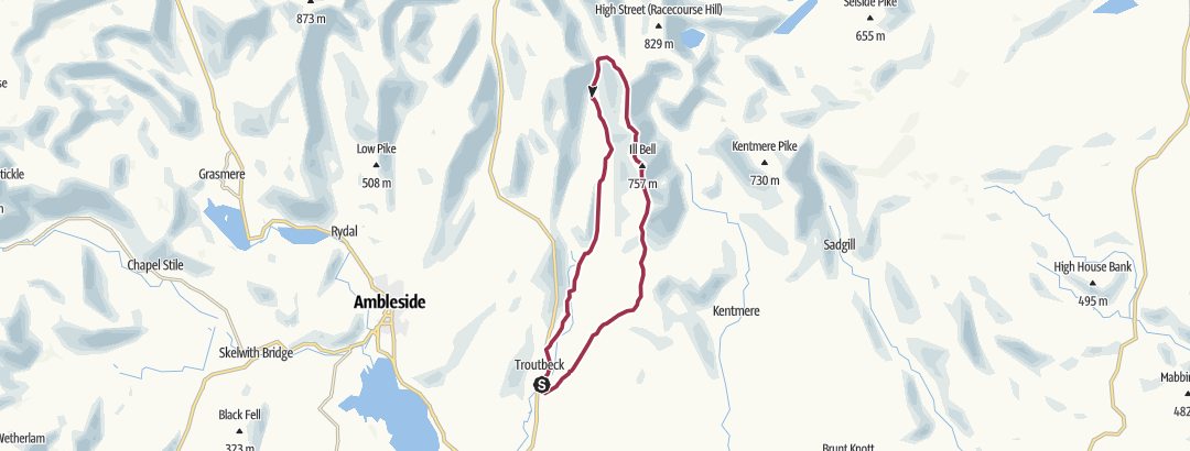 Map / Roller coaster from Troutbeck