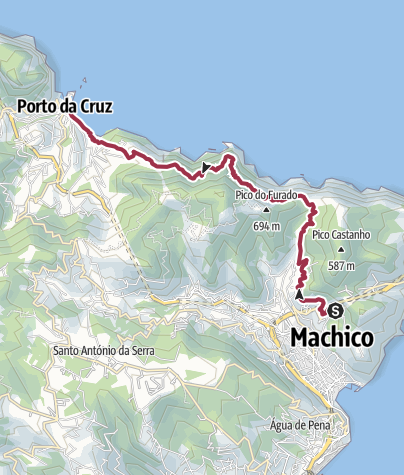 Map / Canical tunnel to Porto da Cruz