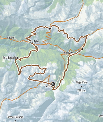 Karte / Arosa - Weisshorn - Molinis - Triemel - Strassberg - Langwies