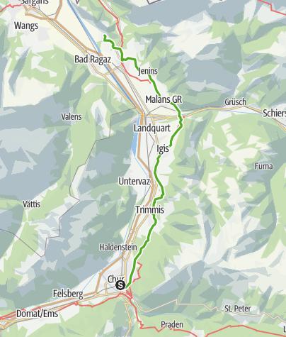 Map / Wine Hiking Trail in Graubünden's Rhine Valley