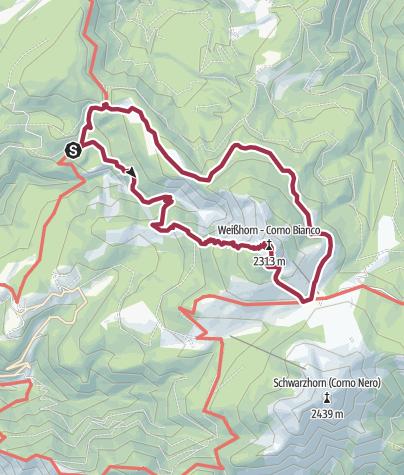 Map / Bletterbachschlucht und Weißhorn