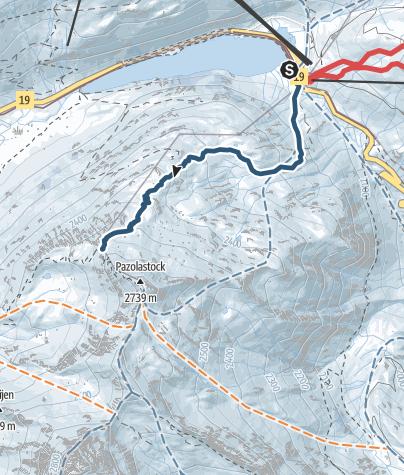 Karte / Znüni-Tour Pazolalücke