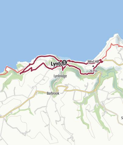 Map / Valley of the Rocks Loop Walk