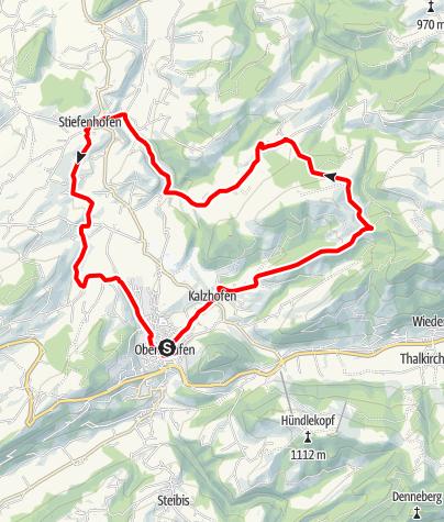 Karte / Um Kalzhofener Höhe und Sinswanger Moor