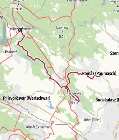 Térkép / Pilisi vándorlás - 3. szakasz (Pilisszentkereszt - Pomáz)