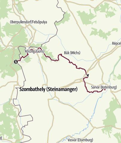 Térkép / Írott-kő - Sárvár (OKT-01.)