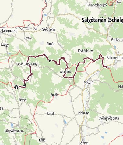 Térkép / Becske - Mátraverebély (OKT-19.)