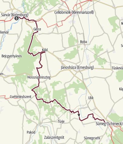 Térkép / Sárvár - Sümeg (OKT - 02.)