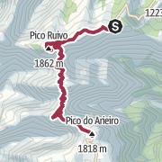 Map / Achada do Teixeira onto Pico Ruivo & Pico Arieiro