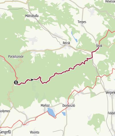 Térkép / Mátraháza - Sirok (OKT-21.)