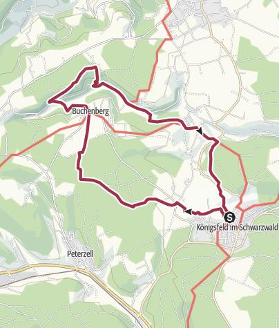 Karte / Qualitätsweg Oberes Glasbachtal