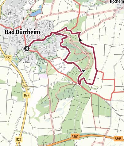 Karte / ParadiesTour Waldcafé Runde