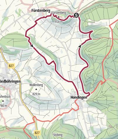 Karte / ParadiesTour Fürstenberg Runde
