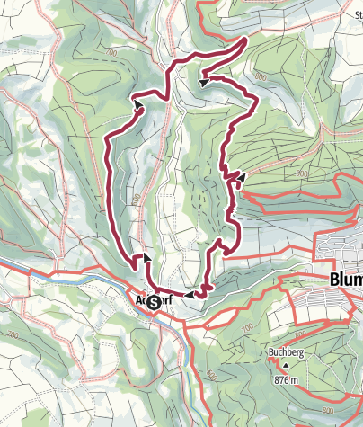 Karte / Qualitätsweg Krottenbachtal
