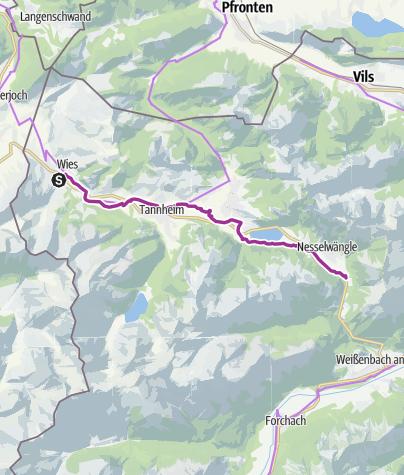 Tannheimer Tal Karte.Auf Dem Radwanderweg Durch Das Tannheimer Tal Radtour