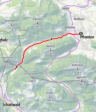 Karte / Durch das Vilstal zu Indianern und Kühen