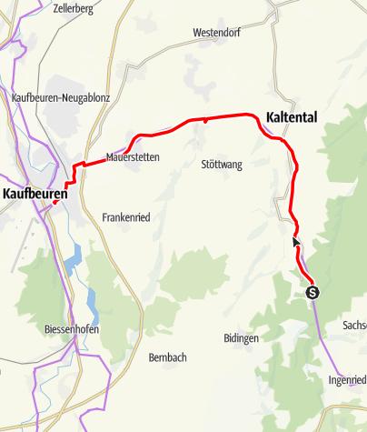 """Karte / """"Sachsenrieder Bähnle"""" zum ehemaligen Waldbahnhof"""