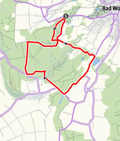 Karte / Radtour auf dem Bad Wörishofener Kneipp-Waldweg