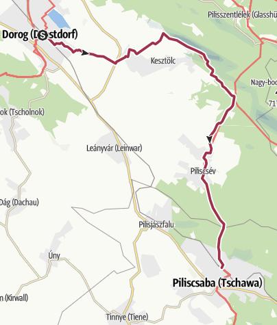 Térkép / Dorog - Piliscsaba (OKT-12.)