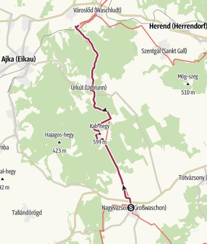 Térkép / Nagyvázsony - Városlőd (OKT-07.)