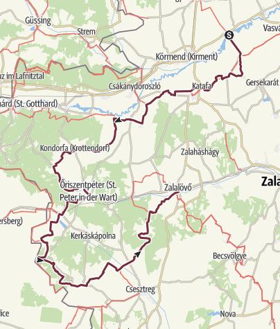 Térkép / Molnaszecsőd - Zalalövő (DDK-02.)