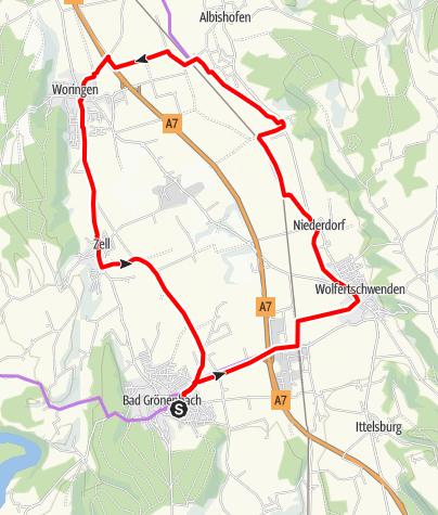 Karte / Bad Grönenbacher Radtour