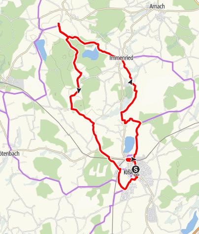 Karte / Radtour zu den Seen um Kisslegg
