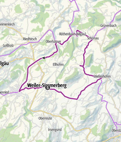 Karte / Kleine Tour auf der Allgäuer Käsestraße