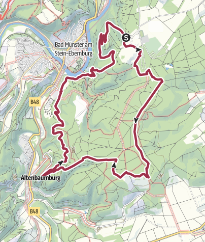 Karte / Vitaltour Rheingrafenstein - Bad Kreuznach - Bad Münster am Stein